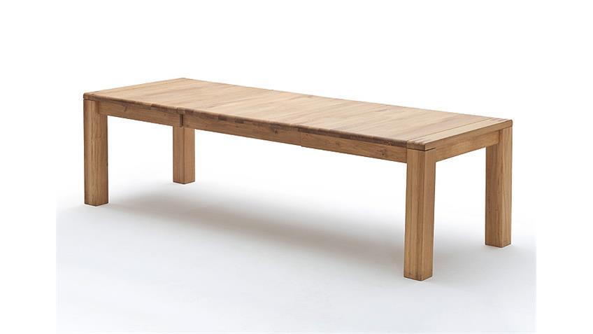 Esstisch ANTON Tisch Eiche Bianco massiv ausziehbar 180-280