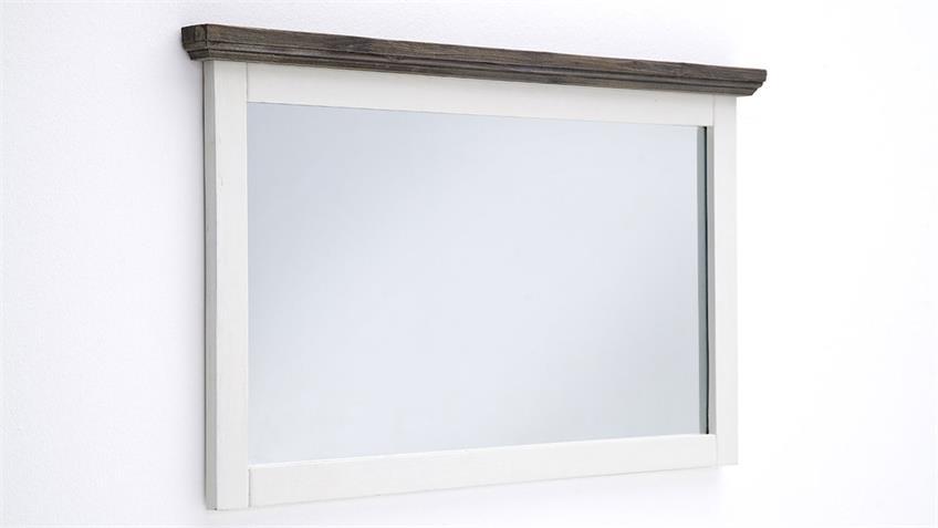 Wandspiegel GOMERA Spiegel Akazie weiß massiv 124 cm