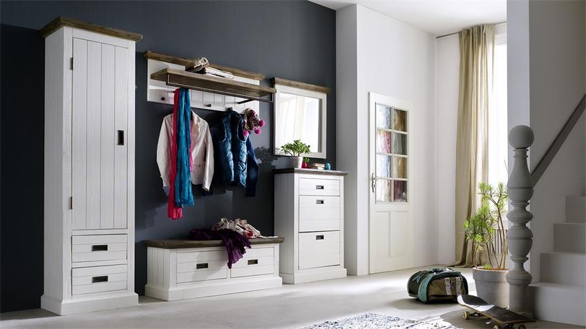 Wandspiegel GOMERA Spiegel Akazie weiß massiv 80 cm