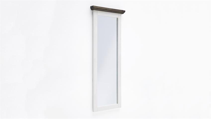 Wandspiegel GOMERA Spiegel Akazie weiß massiv 59 cm