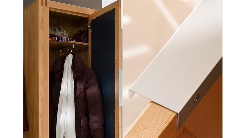 Garderobenschrank links GIANT Schrank in Kernbuche teilmassiv