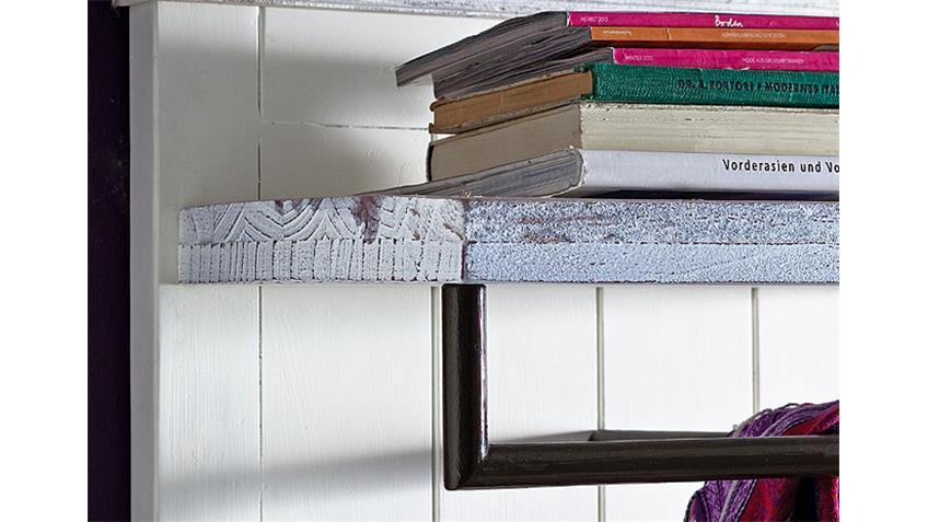 Wandpaneel 2 OPUS Garderobe in Kiefer massiv weiß Vintage