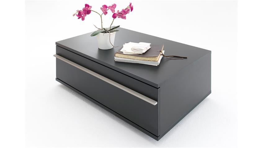 Couchtisch BLACK schwarz matt lackiert mit Schubkasten