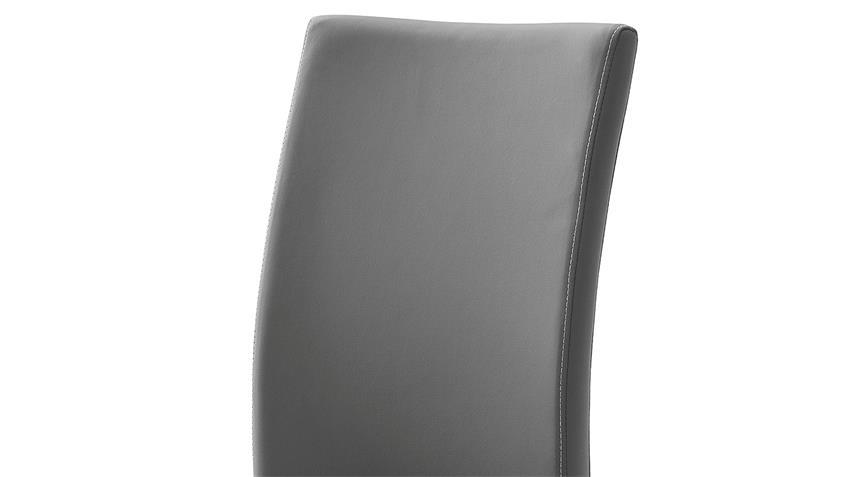 Stuhl 4er-Set PAULO 1 Esszimmerstuhl grau und Edelstahl