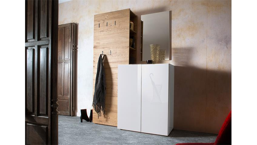 schuhschrank vicenza kommode wei hochglanz lackiert 80 cm. Black Bedroom Furniture Sets. Home Design Ideas