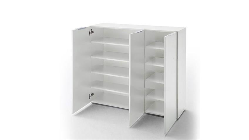 schuhschrank vicenza kommode wei hochglanz lackiert 120 cm. Black Bedroom Furniture Sets. Home Design Ideas