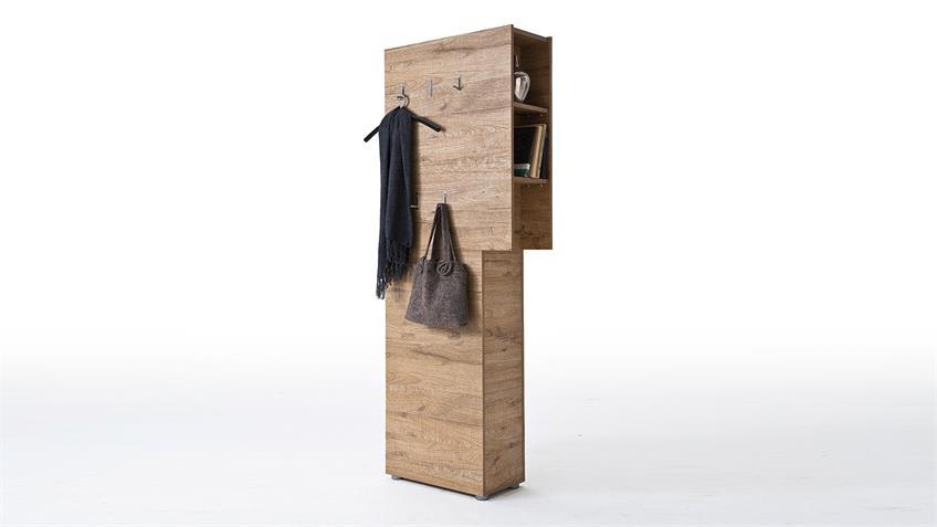 Garderobenpaneel VICENZA Garderobe Paneel in Eiche natur