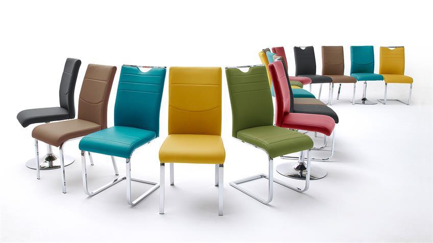 Schwingstuhl 2er Set SLASH Stuhlsystem schwarz und chrom