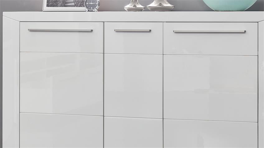 Sideboard PADUA Kommode Anrichte in weiß Hochglanz