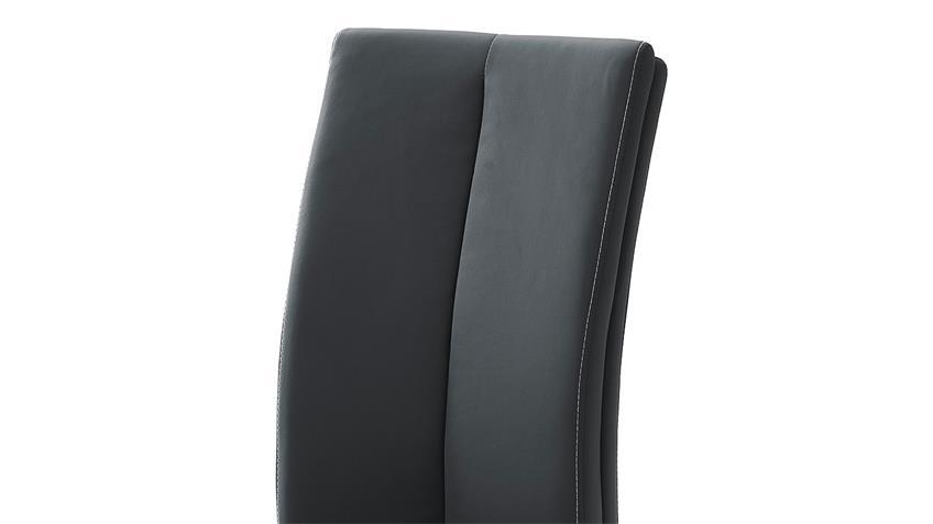 Tischgruppe TIRSO PAULO Tisch Stuhl weiß Hochglanz schwarz