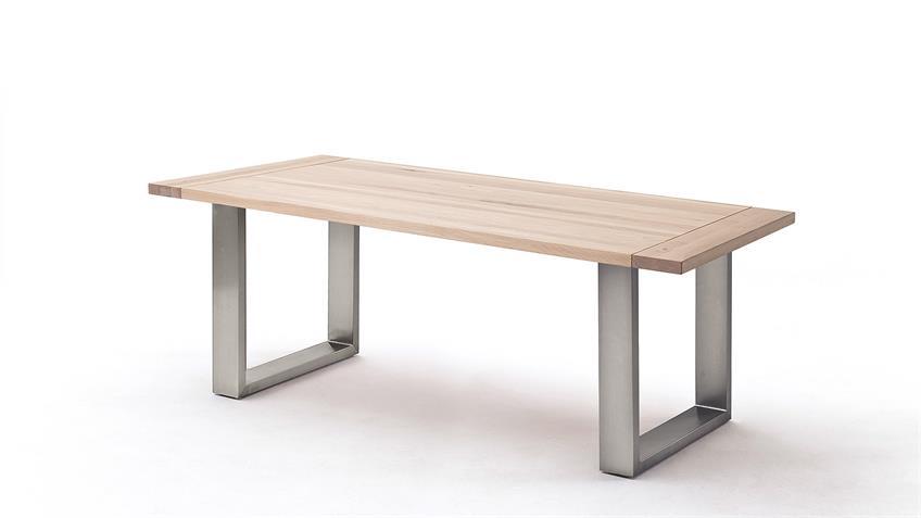 Esstisch 1 ALMEIDA Tischsystem Eiche Bainco massiv 180