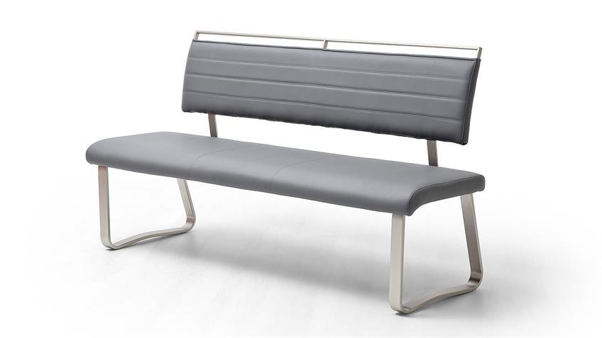 Tischgruppe HANJO PESCARA Esszimmer in weiß matt Lack grau