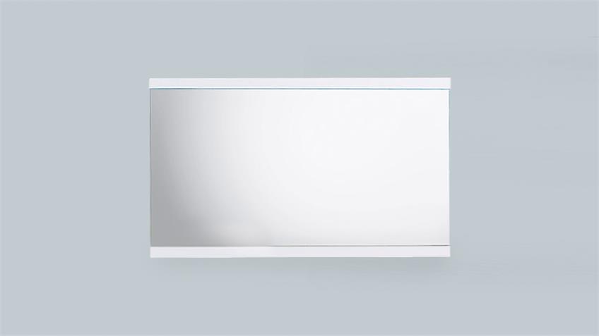 Spiegel CANBERRA Wandspiegel in weiß Hochglanz Lack 110 cm