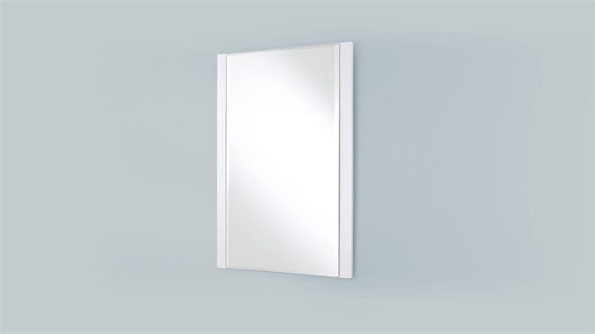 Garderobenset 1 CANBERRA Garderobe weiß Hochglanz Lack Glas