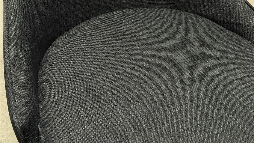 Schwingstuhl 2er Set ELARA Stuhl Stuhlsystem grau Feingewebe