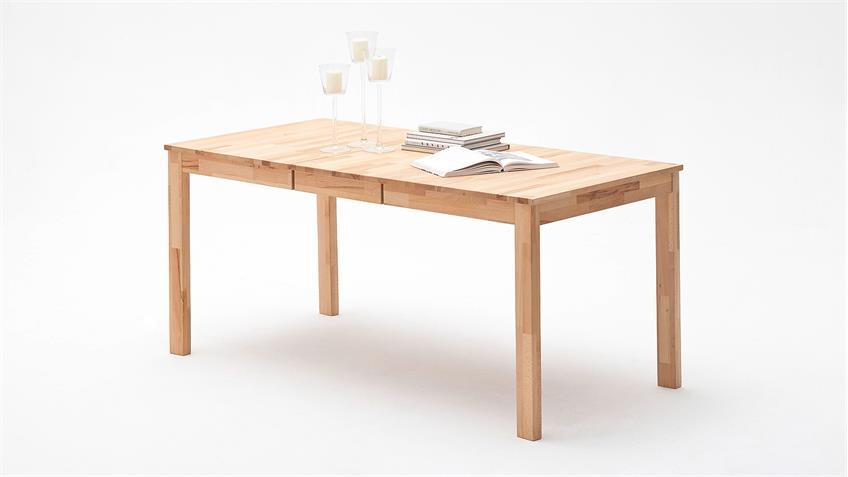 Esstisch FABIAN Tisch in Kernbuche massiv geölt ausziehbar