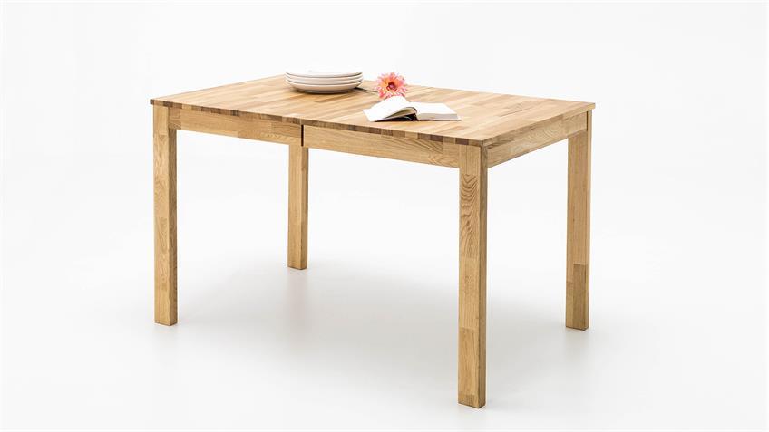 Esstisch FABIAN Tisch in Wildeiche massiv geölt ausziehbar