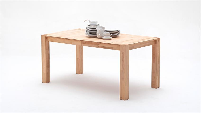 Esstisch ferdis tisch in kernbuche massiv ge lt ausziehbar for Tisch massiv ausziehbar