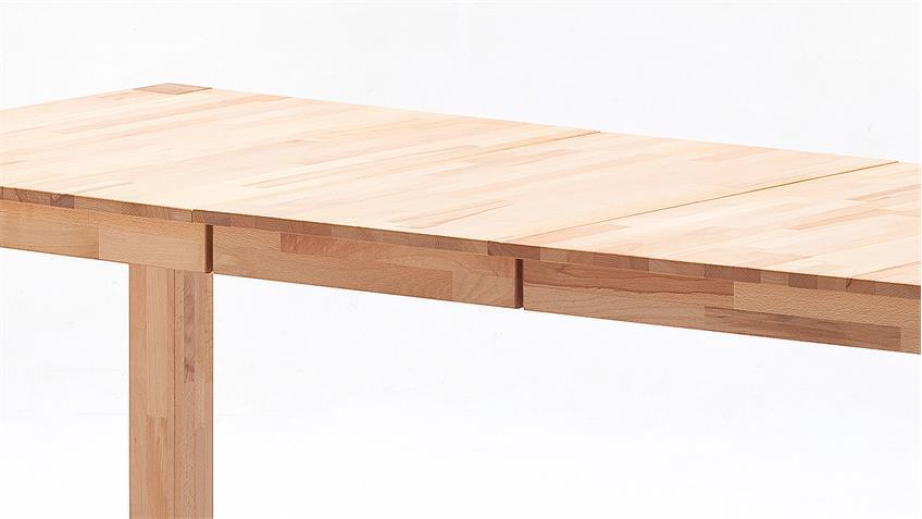 Esstisch FERDIS Tisch in Kernbuche massiv geölt ausziehbar