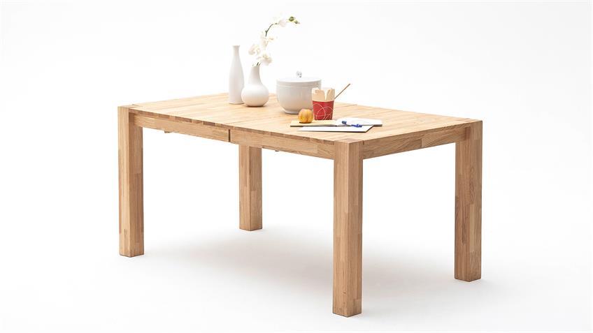 Esstisch FERDIS Tisch in Wildeiche massiv geölt ausziehbar