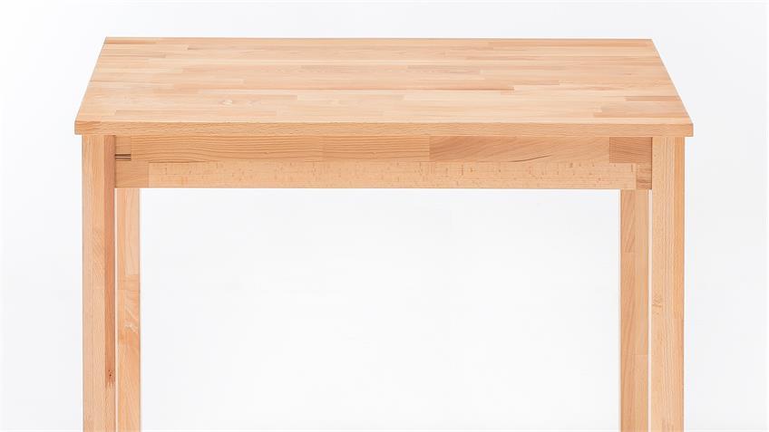 Esstisch ALFONS Tisch in Kernbuche massiv geölt 50x70 cm