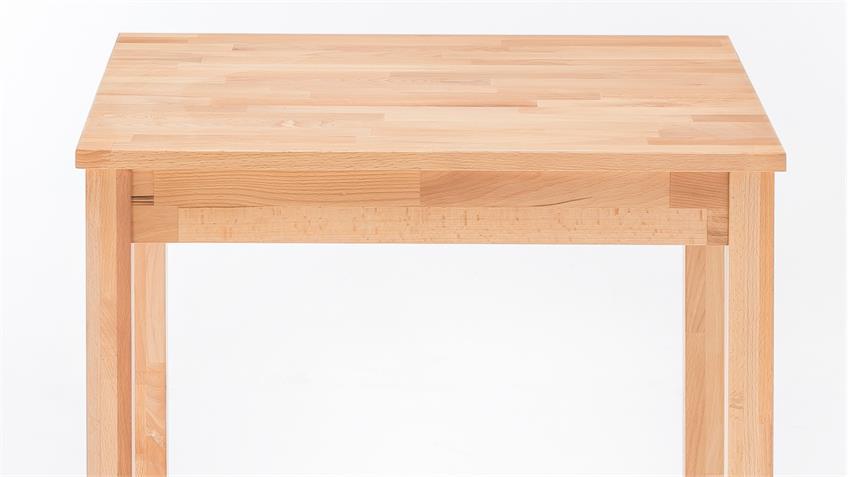 Esstisch ALFONS Tisch in Kernbuche massiv geölt 70x70 cm