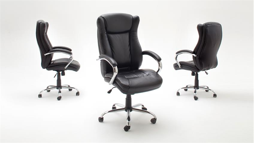 Chefsessel PORTER Drehstuhl Drehsessel Bürostuhl Bürosessel schwarz