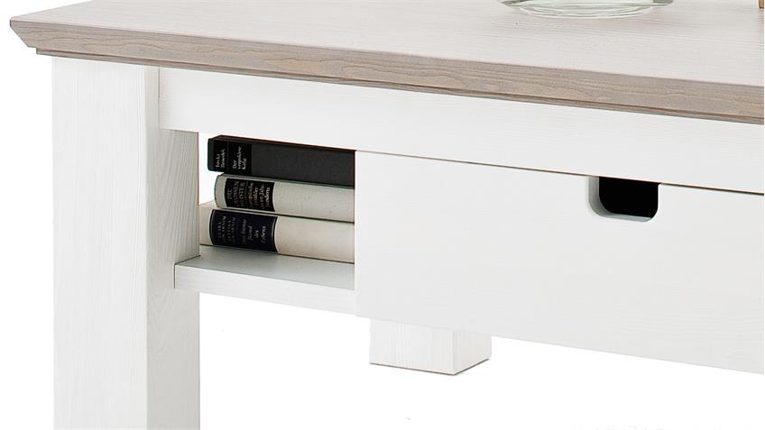 couchtisch la palma tisch in kiefer teilmassiv wei taupe. Black Bedroom Furniture Sets. Home Design Ideas