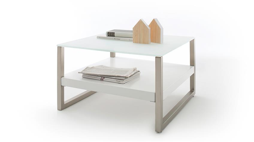 couchtisch baveno in mdf und glas wei lack mit. Black Bedroom Furniture Sets. Home Design Ideas