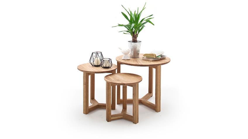 couchtisch 3er set faye wohnzimmertisch in asteiche massiv. Black Bedroom Furniture Sets. Home Design Ideas