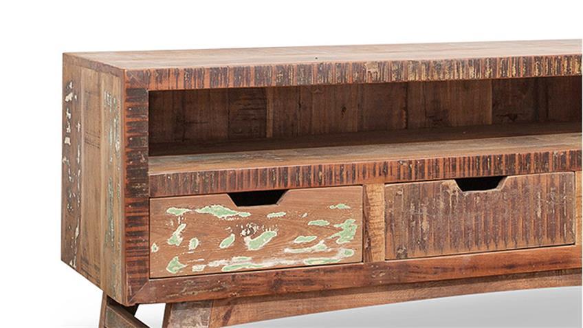 lowboard malm aus recycle massivholz used color look. Black Bedroom Furniture Sets. Home Design Ideas