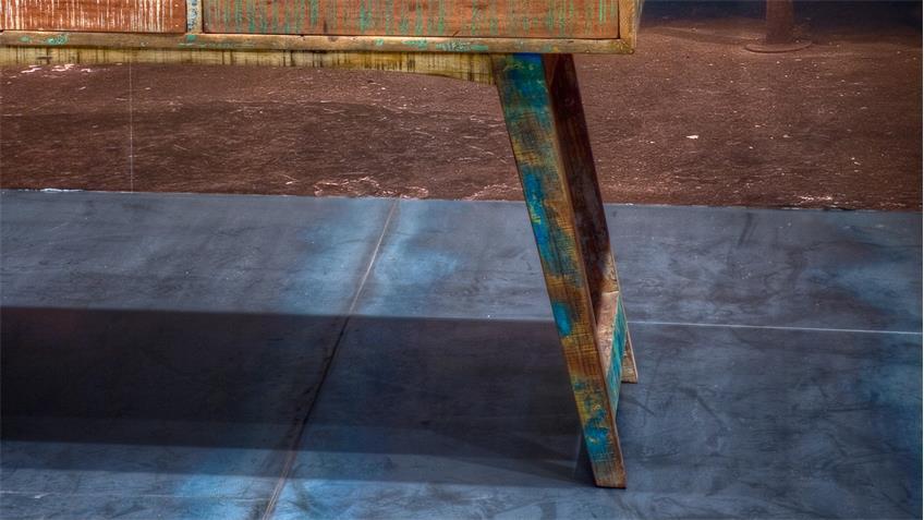 Schreibtisch Malmö aus recyceltem Massivholz lackiert 140 cm