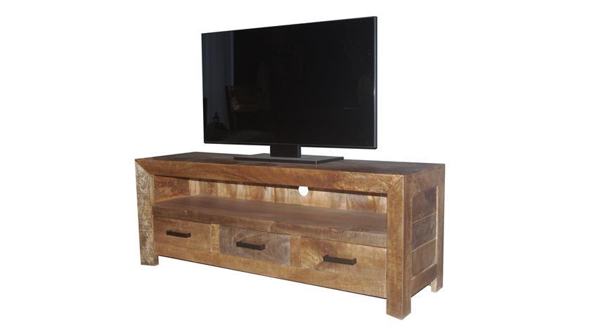 lowboard wayland tv board hifi aus mango holz massiv mehrfarbig. Black Bedroom Furniture Sets. Home Design Ideas