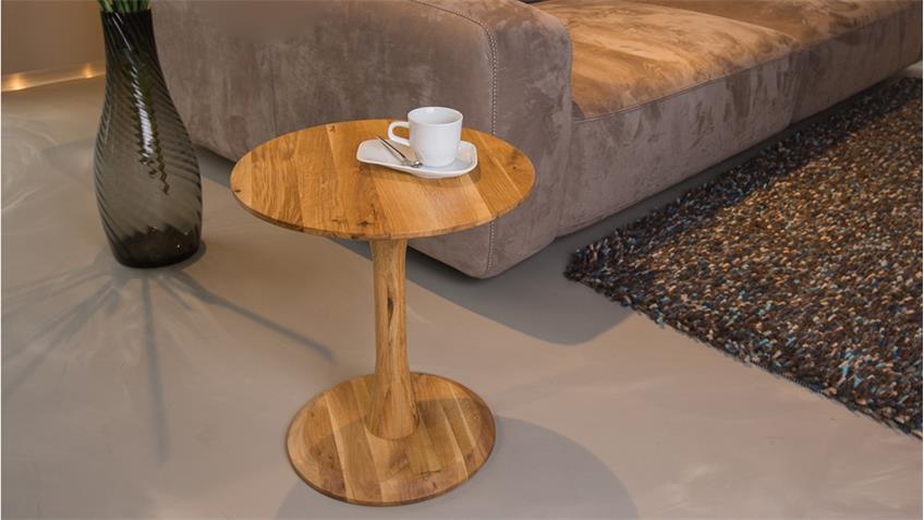 beistelltisch niko wildeiche massiv blumenhocker. Black Bedroom Furniture Sets. Home Design Ideas