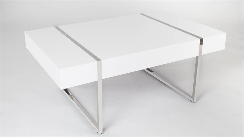 Couchtisch fabian matt wei e platte mit metallgestell 100x60 - Couchtisch mit metallgestell ...