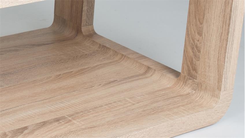 couchtisch alina 1 in sonama eiche hell mit rollen 105x60 cm. Black Bedroom Furniture Sets. Home Design Ideas