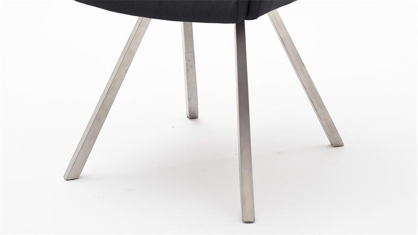 Stuhl MADITA 2er-Set Esszimmerstuhl Küchenstuhl Stuhlset in anthrazit