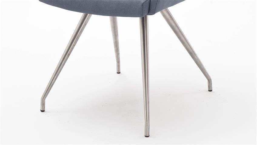 Stuhl MADITA 2er-Set Esszimmerstuhl Küchenstuhl Stuhlset in grau blau