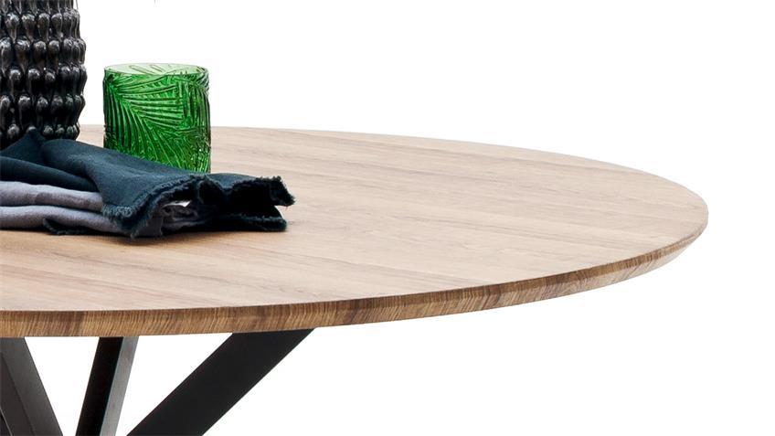 Esstisch FIRENZE Tisch Küchentisch MDF Wildeiche anthrazit 120x120 cm