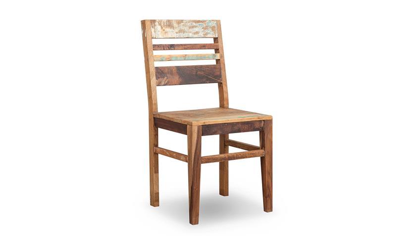 Essgruppe MALMÖ Massivholz Altholz used Look Tisch Bank Stühle