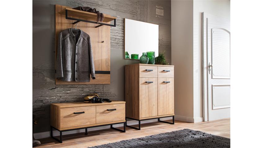 garderobe 2 toledo komplett set eiche melamin metall. Black Bedroom Furniture Sets. Home Design Ideas