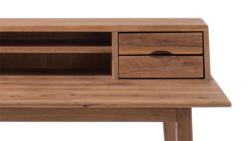 Schreibtisch MELBOURNE Asteiche massiv geölt 110x58 cm