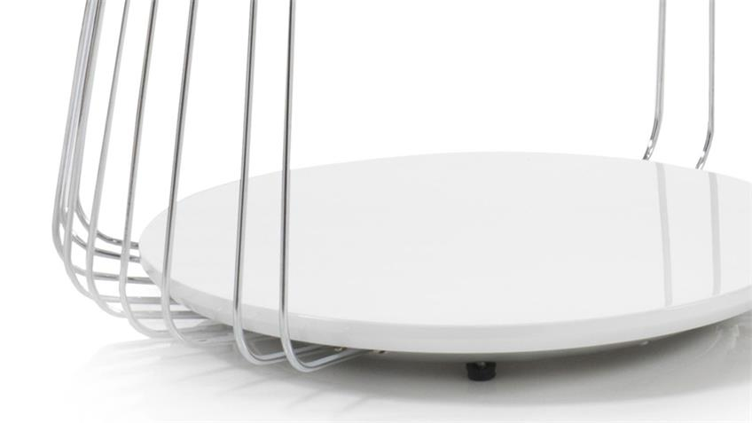 Couchtisch VILNIUS weiß matt lackiert Metall 50x50 cm