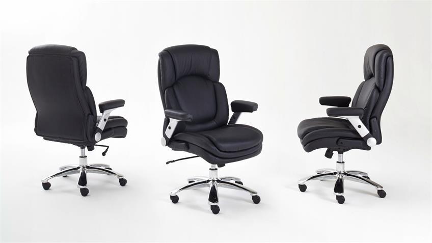 Chefsessel Schreibtischstuhl Real Comfort schwarz XXL