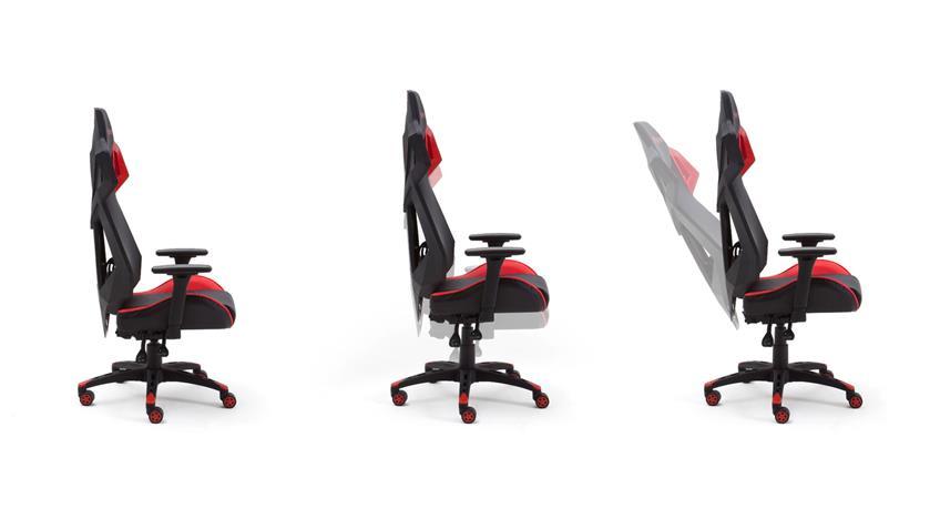 Chefsessel Schreibtischstuhl Spaceracer schwarz rot