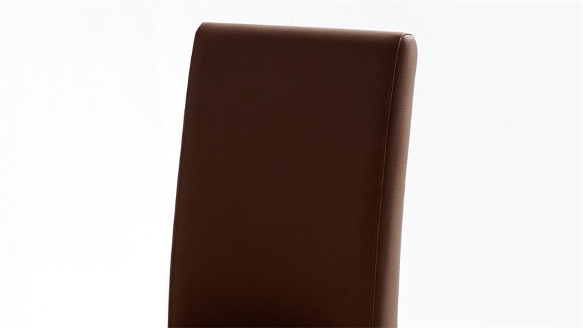 Esszimmerstuhl FIX Stuhl 2er-Set braun und Buche Massivholz