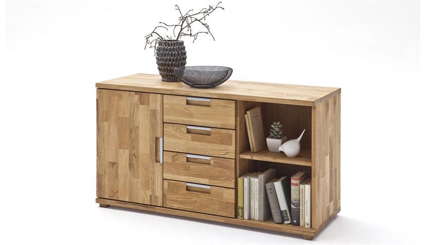 Sideboard ZENDO Asteiche geölt Büroschrank Massivholz