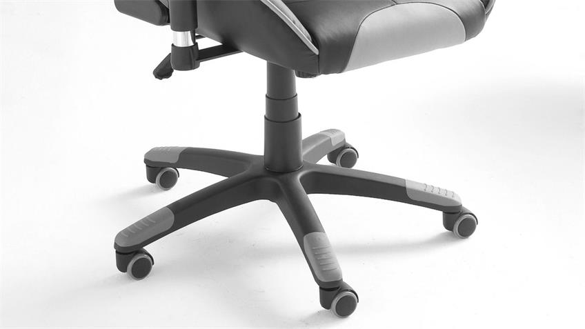 Chefsessel McRACING schwarz grau Drehstuhl Bürostuhl