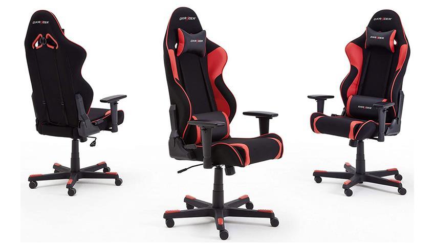 Bürosessel Game Chair DX RACER R1 Bürostuhl schwarz rot