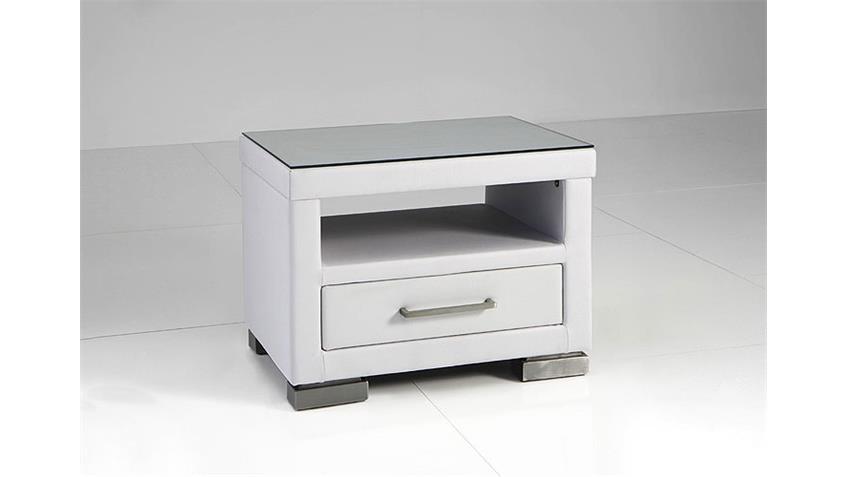 Nachtkonsole HOMER Nachtkommode Nachttisch in weiß